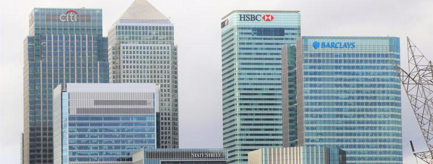 Skyline mit Banken